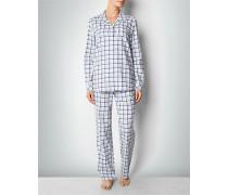 Damen Nachtwäsche Pyjama aus Flanell