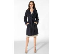 Damen Mantel Trenchcoat Mikrofaser navy