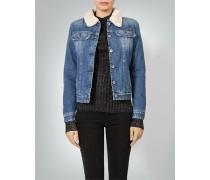 Damen Jeansjacke mit Fellfutter