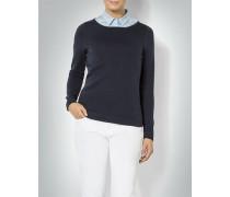 Damen Pullover mit dezentem U-Boot Ausschnitt