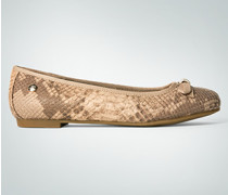Damen Schuhe Ballerina im Snake-Look