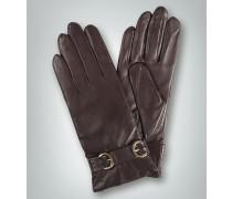 Damen Handschuhe Schaf-Nappa Kaschmir-Strickfutter mocca