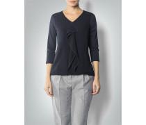 Damen Shirt-Bluse mit Volant-Detail