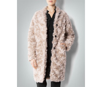 Damen Mantel in Fake-Fur-Optik