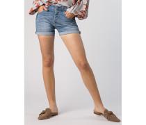 Jeansshorts mit gekrempeltem Saum