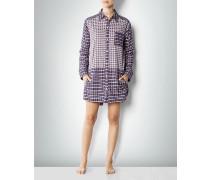 Damen Nachtshirt aus Flanell im Patchwork-Design