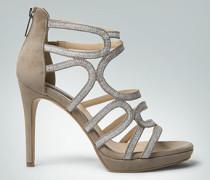 Damen Schuhe Glitter-High Heels aus Veloursleder