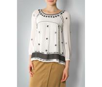 Damen Bluse mit Stickerei und Pailetten