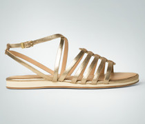 Damen Schuhe Riemchensandale mit flachem Plateauabsatz
