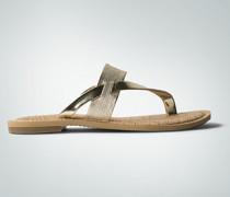 Damen Schuhe Zehensandalen mit Metallicriemen
