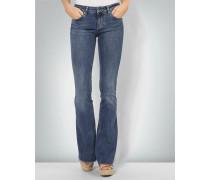 Jeans mit weit ausgestelltem Bein