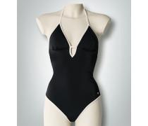 Damen Badeanzug mit Kontrasteinfassung