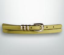 Damen Gürtel Leder in Veloursoptik