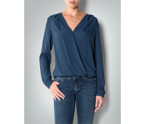 Damen Bluse mit asymmetrischem Saum