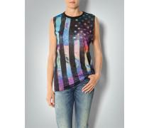 Damen Ärmelloses T-Shirt mit Flaggen-Print
