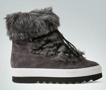 Damen Schuhe Boots mit Kunstfell