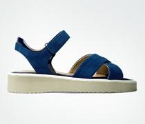 Damen Schuhe Sandalen aus Veloursleder