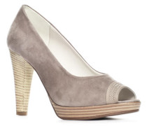 Schuhe 'Cidora', Velours, taupe
