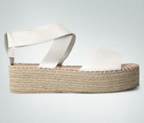 Damen Schuhe Plateau-Sandalen im Espadrilles-Style
