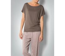 Damen Pyjama-Shirt mit Kimomo-Ärmel