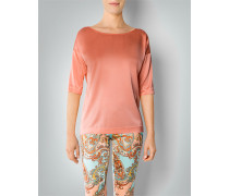Damen Shirt-Bluse aus Seiden-Stretch