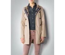 Damen Mantel Kurz-Trenchcoat mit Wende-Funktion