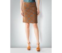 Damen Rock mit Brokat-Muster