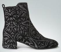 Schuhe Stiefelette aus glänzendem Jacquard