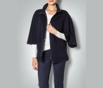 Damen Cape-Jacke im Wolle-Kaschmir-Mix
