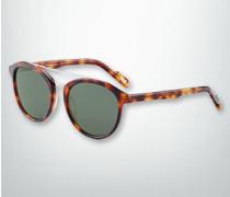 Damen Brille Sonnenbrille mit doppeltem Metallsteg