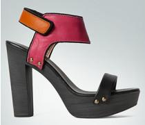 Damen Schuhe Plateau-Sandalette im Color-Blocking-Design