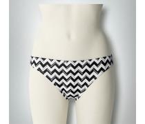 Damen Bademode Bikini-Slip im Logo-Print-Dessin