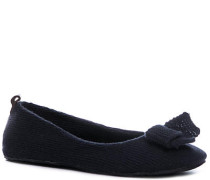 Damen Schuhe Home Slipper Strick dunkel