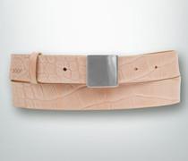 Damen Gürtel Gürtel mit Kroko-Prägung