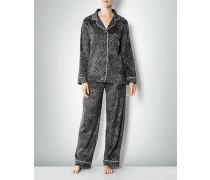 Damen Nachtwäsche Pyjama aus Microfleece mit Animal Dot Dessin