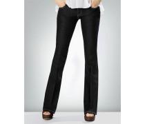 Damen Jeans im Bootcut mit Bügelfalte