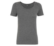 Damen T-Shirt mit Spitzenpasse