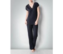 Damen Nachtwäsche Pyjama-Set in Jersey-Qualität