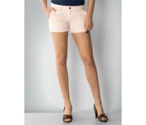 Damen Hose Short im Streifen-Mélange-Look