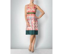 Damen Kleid aus Seide mit Blumen-Print