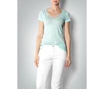 Damen T-Shirt mit Kontrast-Besatz