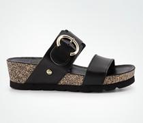 Schuhe Keilsandalen aus Leder