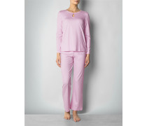 Damen Nachtwäsche Pyjama mit Rundhals-Ausschnitt und Cut-Out