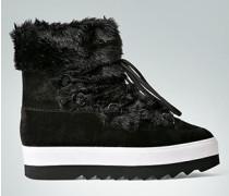 Damen Schuhe Booties mit Kunstfell