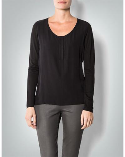 Damen Langarmshirt mit transparentem Nackenbereich