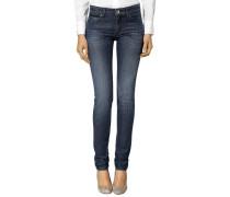 Damen Jeans Baumwolle indigo used