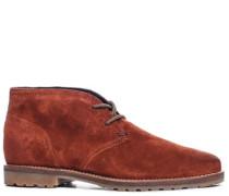 Damen Schuhe Desert Boot Veloursleder picante