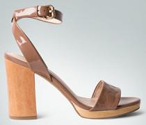Damen Schuhe Sandalen in Lackleder-Optik