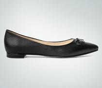 Damen Schuhe Balarinas mit Lackschleife
