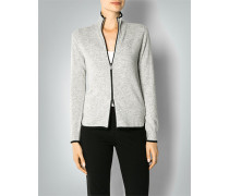 Damen Cardigan mit Mini-Perforationsmuster